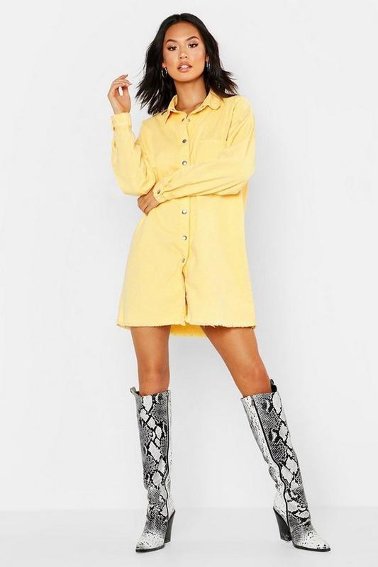 Boohoo. товар из англии. джинсовое платье рубашка в стиле овер...