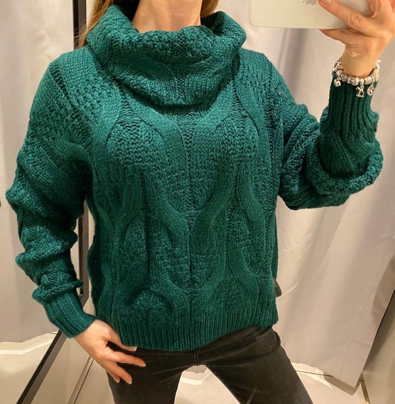 Зелёный свитер с голом кофта reserved есть размеры