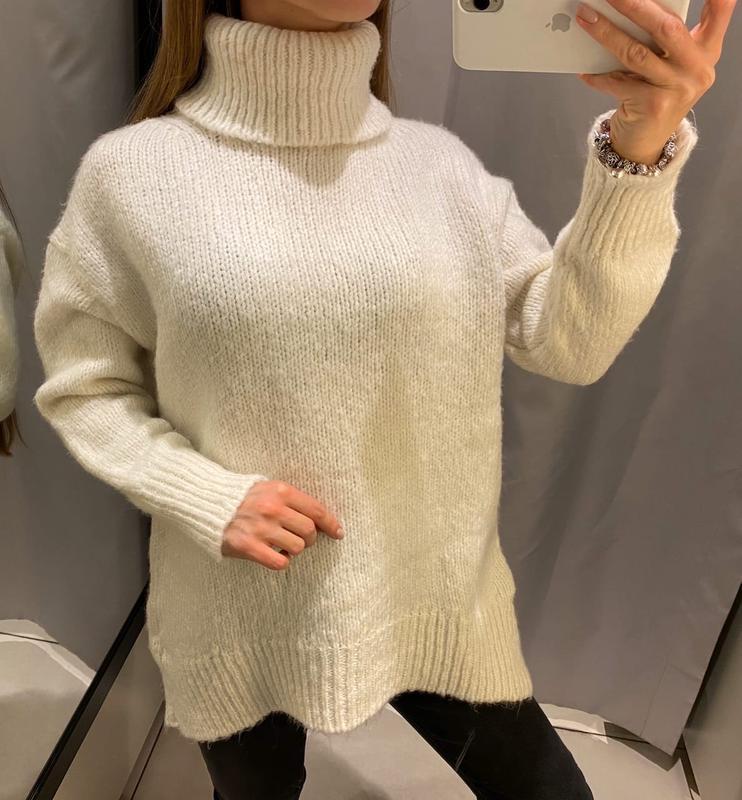 Белый свитер с горлом кофта reserved есть размеры