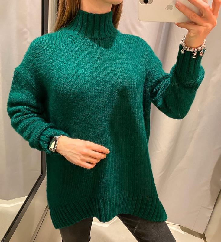 Зелёный свитер под горло кофта reserved есть размеры