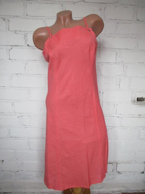 Платье-сарафан летнее льняное