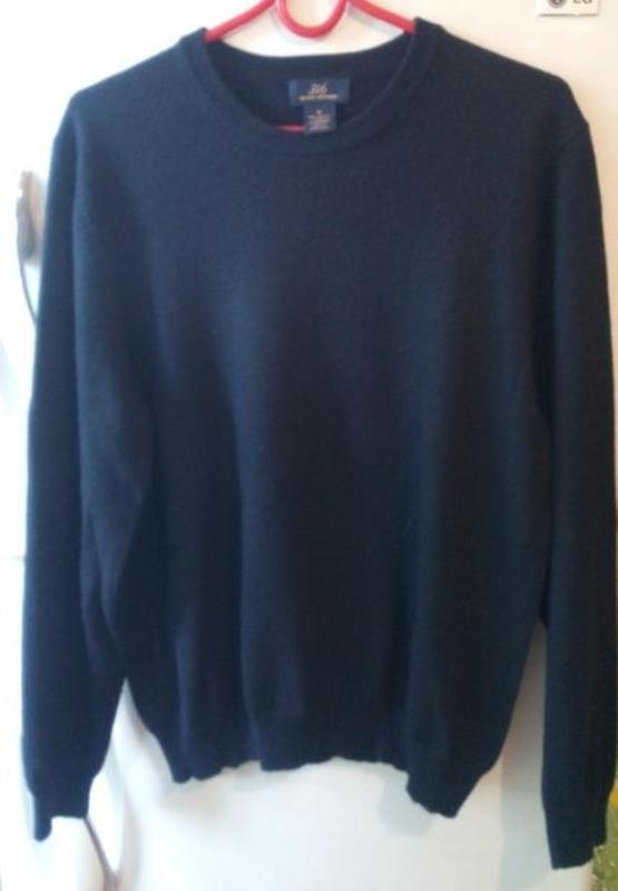 Шерстяной свитер,в темно-синем цвете 346 brooks, размер xl