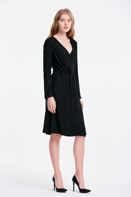Брендовое черное вечернее нарядное макси платье joanna hope шр...