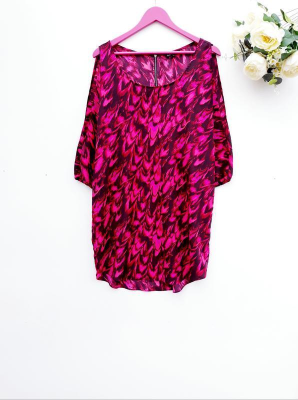Красивое летнее платье с разрезами на рукаве платье миди