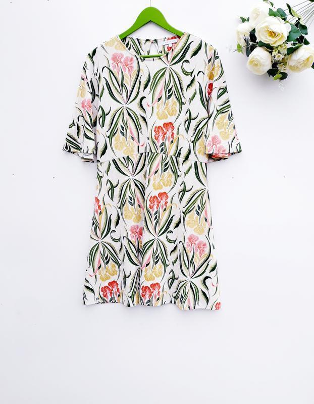 Красивое платье миди летнее платье в цветочный принт
