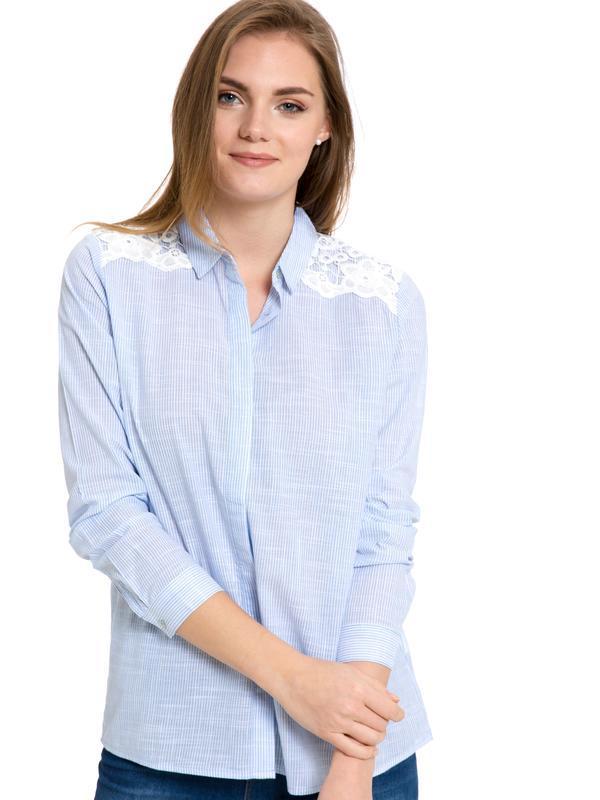 Женская рубашка lc waikiki / лс вайкики в тонкую голубую полос...