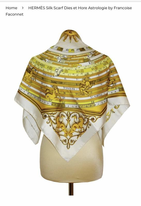 Платок шелковый винтажный оригинал hermes