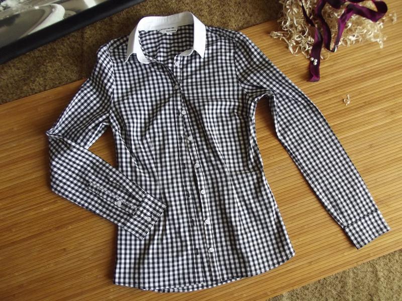 Трендовая рубашка в монохромную клетку «tally weijl»