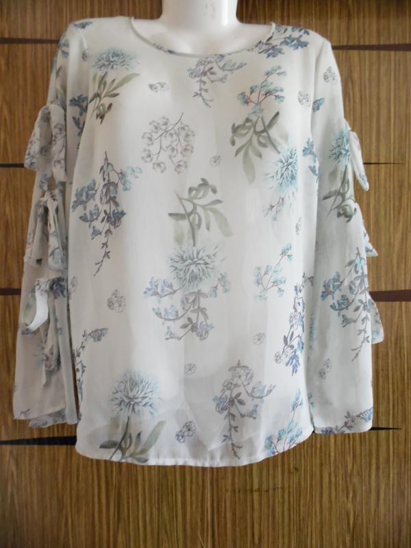 Блуза из иск.шелка новая george, размер 16(44) – идет на 50-52+.