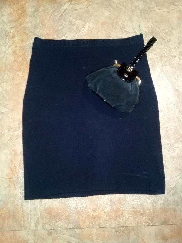 Черная юбка трикотаж большой размер