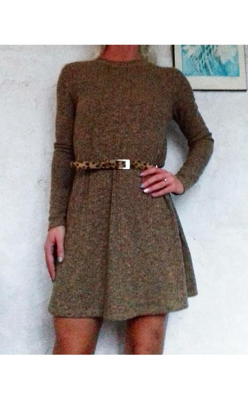 Шикарное платье в рубчик topshop