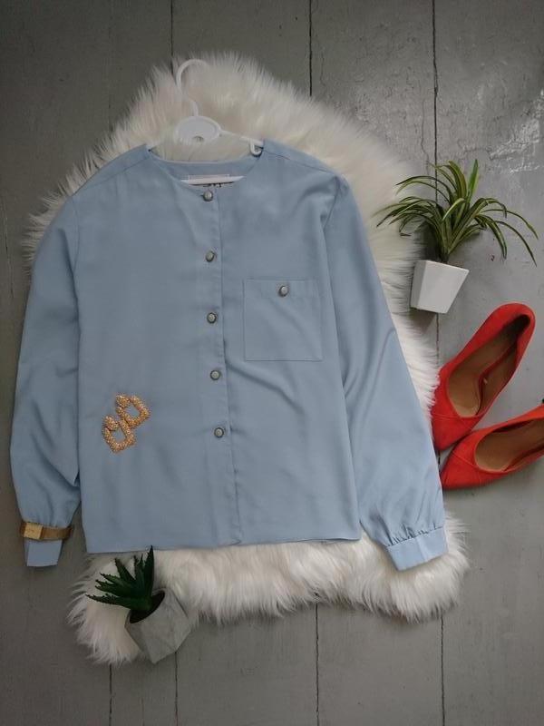 Актуальная винтажная лёгкая блузка рубашка №11max