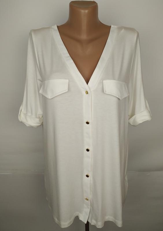 Блуза новая белая стильная вискоза next uk 14/42/l