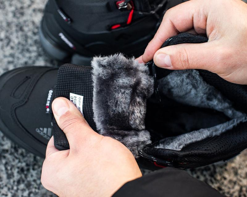 Зимние мужские высокие чёрные кроссовки адидас с мехом, adidas... - Фото 6