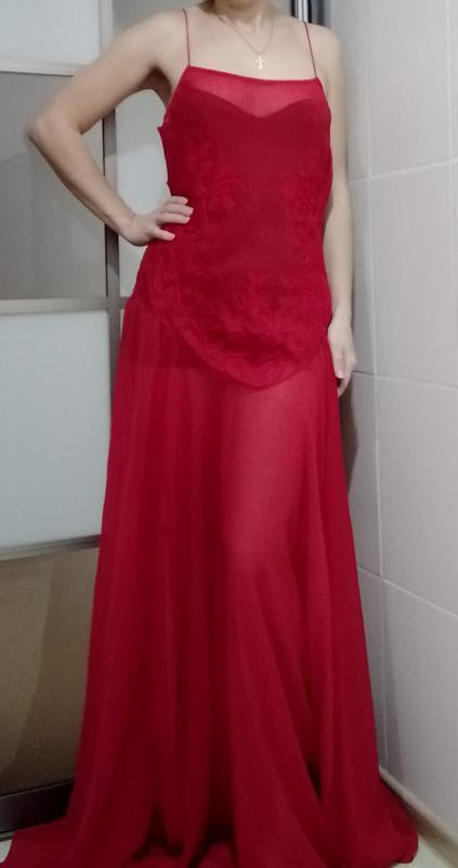 Шикарное красное платье вечернее л-ка
