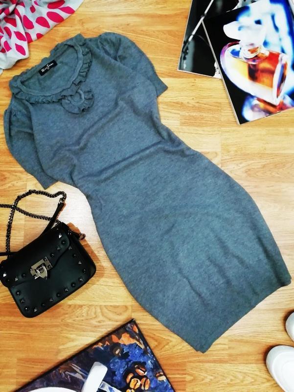 Женское комфортное вязаное шерстяное кашемировое платье секси ...