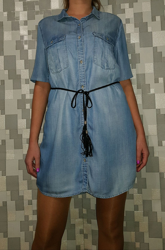 Женское джинсовое платье рубашка р48-50