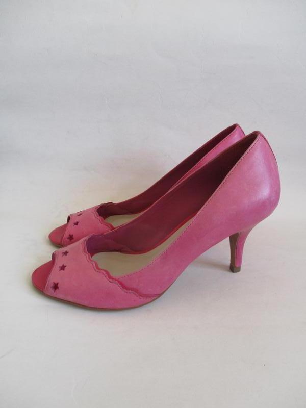 Кожаные туфли с открытым носком kookai