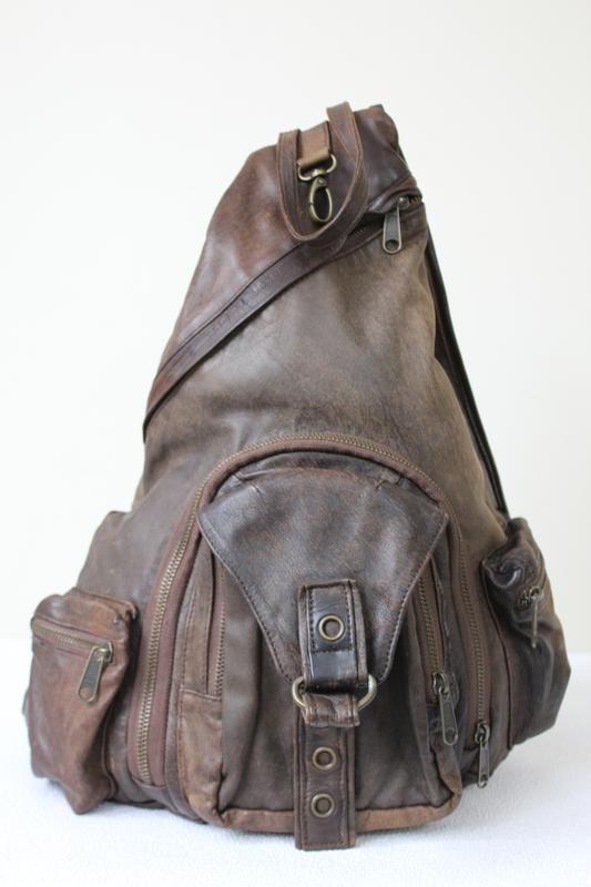 Сумка -  рюкзак из натуральной кожи majesteit ,нидерланды.