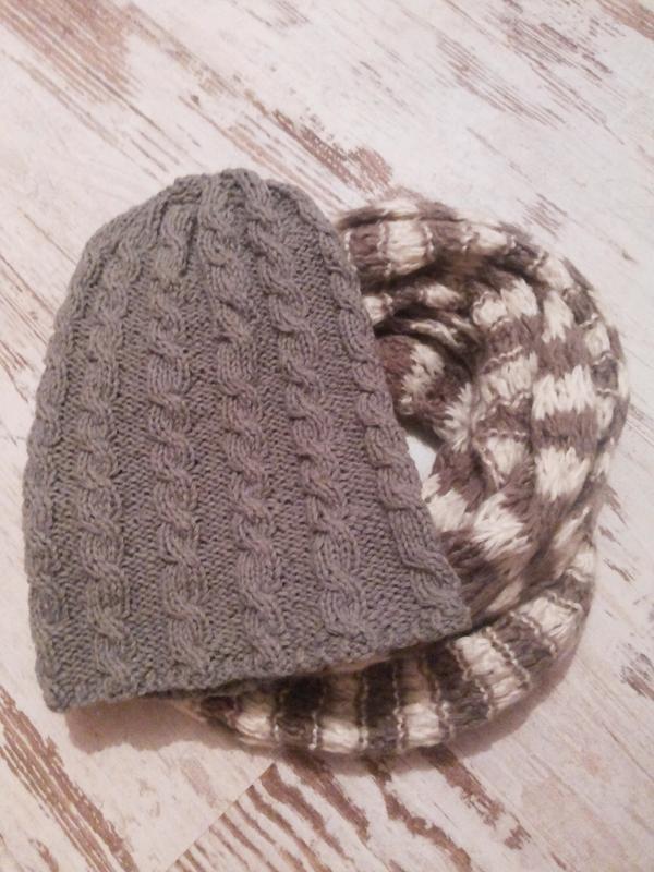 шапка и шарф,зима