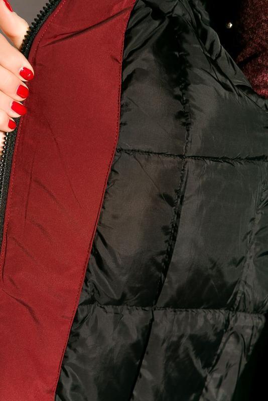 Парка женская, зимнее пальто - Фото 5