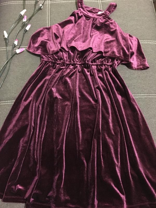 Коктейльное вечернее бархатное платье 🌺