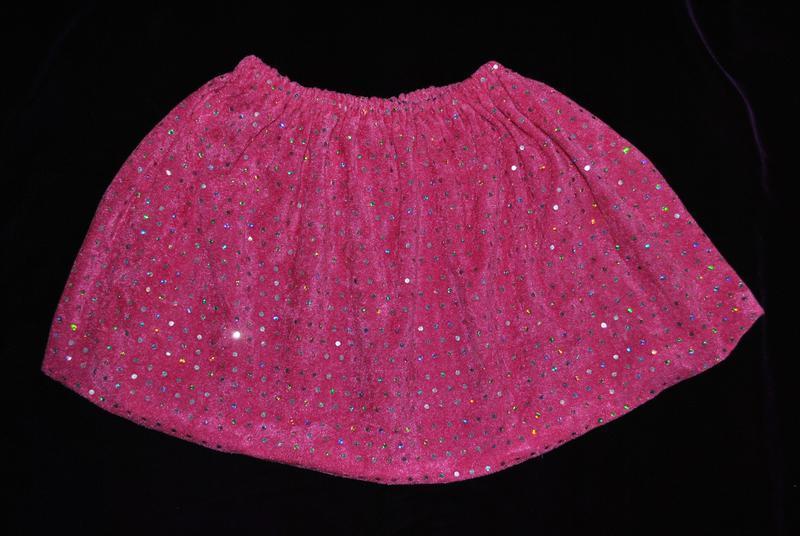 Юбка  7-8 лет розовая с пайетками блестящая танцы выступление