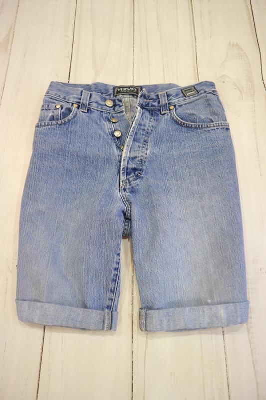 Шорты с подворотами на высокой посадке, versace jeans couture,...