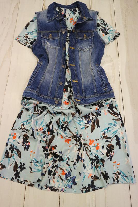 Романтичное платье в цветочный принт, xl