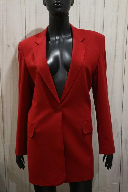 Элегантный удлинённый пиджак, полушерсть, xxl
