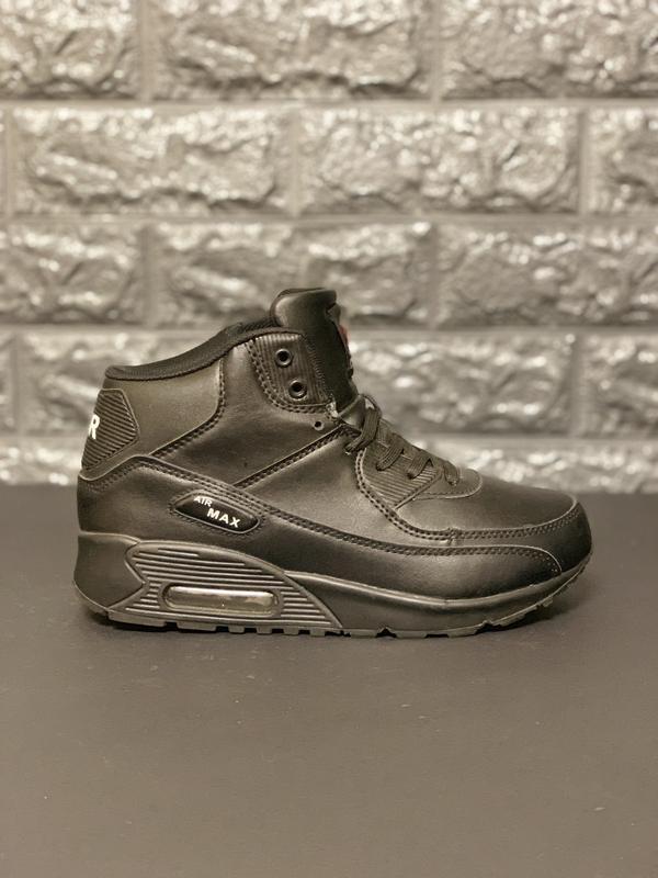 Зимние кожаные кроссовки air max classic!последняя пара!распро...