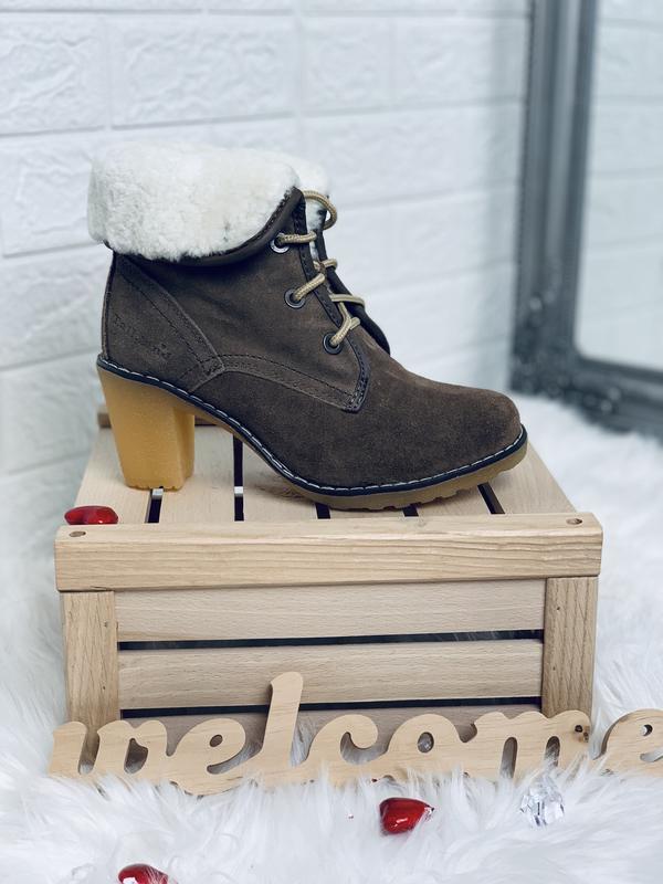 Timberland!женские зимние ботинки!натуральный замш!натуральная... - Фото 3