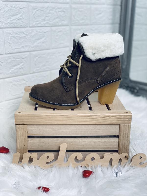 Timberland!женские зимние ботинки!натуральный замш!натуральная... - Фото 4