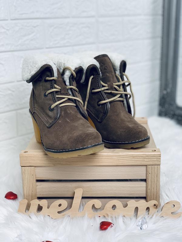 Timberland!женские зимние ботинки!натуральный замш!натуральная... - Фото 5