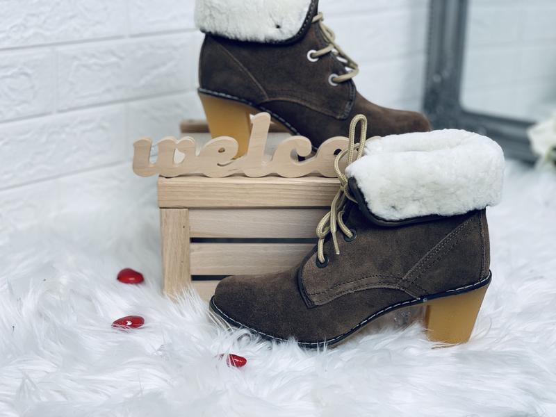 Timberland!женские зимние ботинки!натуральный замш!натуральная... - Фото 6