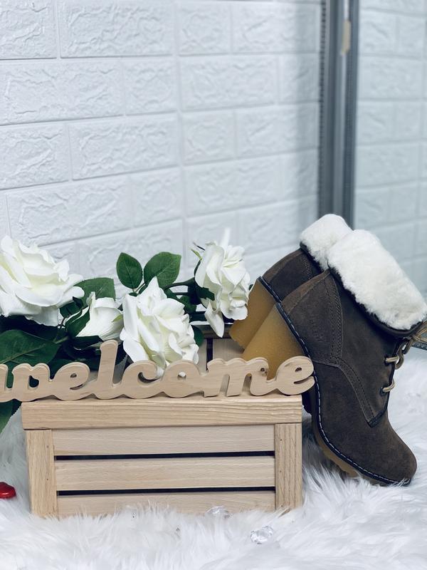 Timberland!женские зимние ботинки!натуральный замш!натуральная... - Фото 7