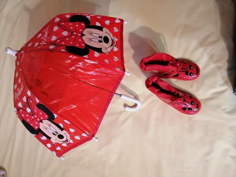 Комплект для осени сапоги и зонтик