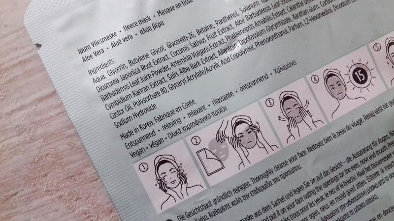 Корейская маска для лица ipuro fleece mask vital boost - алоэ ... - Фото 6