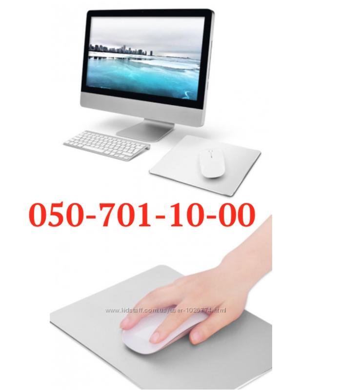 Алюминий коврик для мышки iMac Macbook стиль Aplle с логотипом - Фото 2