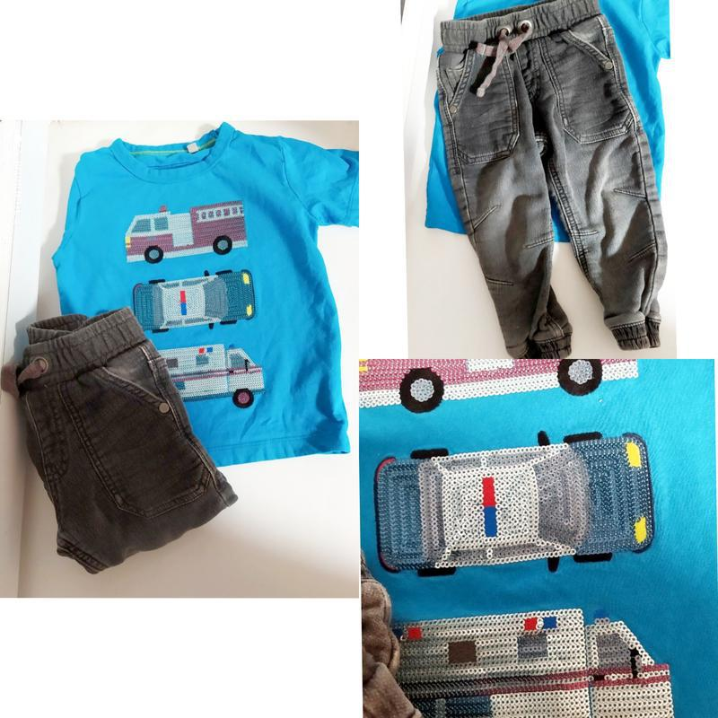 Набор футболка кофта и джинст штани джинсы штаны