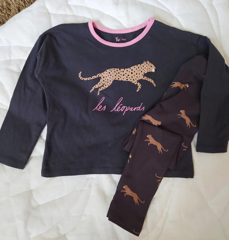 Піжама пиджама ночнушка піжамка леопард как новая штани кофта