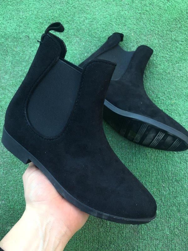 Ботинки - женские челси ( чёрные )