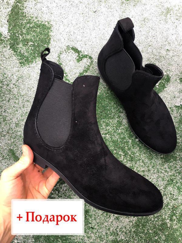 Ботинки - женские челси ( чёрные ) - Фото 2