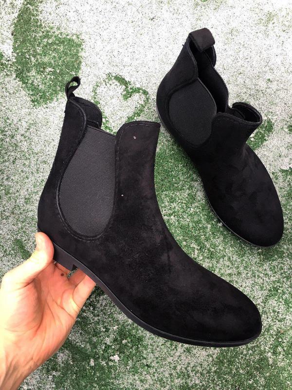 Ботинки - женские челси ( чёрные ) - Фото 3
