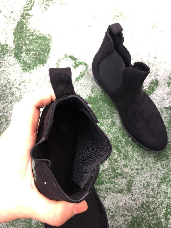 Ботинки - женские челси ( чёрные ) - Фото 4