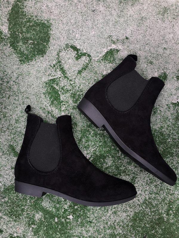 Ботинки - женские челси ( чёрные ) - Фото 5