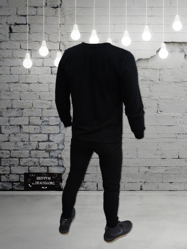 Мужской комплект термобелья - с шерстью ( чёрный ) - Фото 2