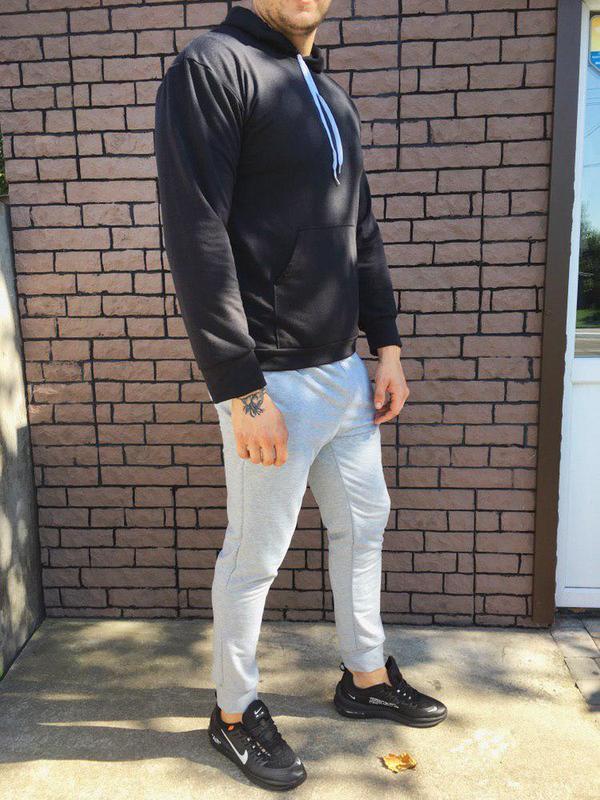 Мужской спортивный костюм - чёрно-серый - Фото 2