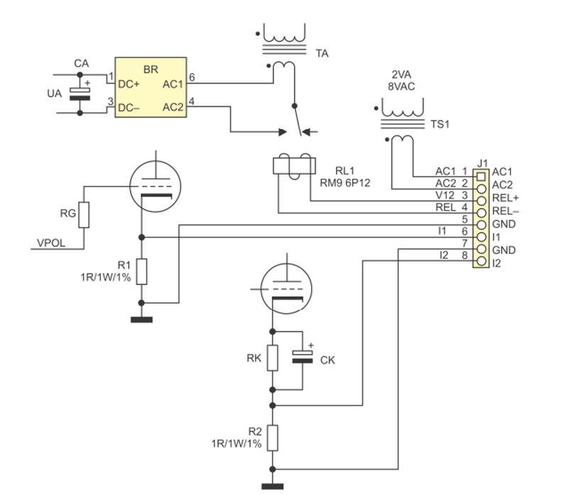 Измеритель тока анода выходных ламп УНЧ
