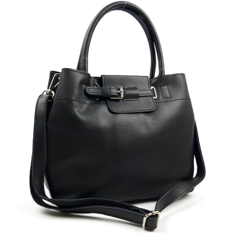 Женская кожаная сумка черного цвета, galanty подробнее
